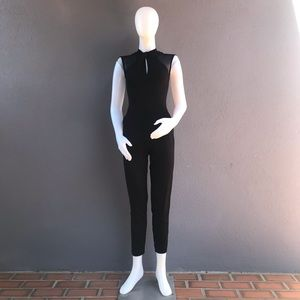 French Connection Black Jumpsuit with Mesh Size 4